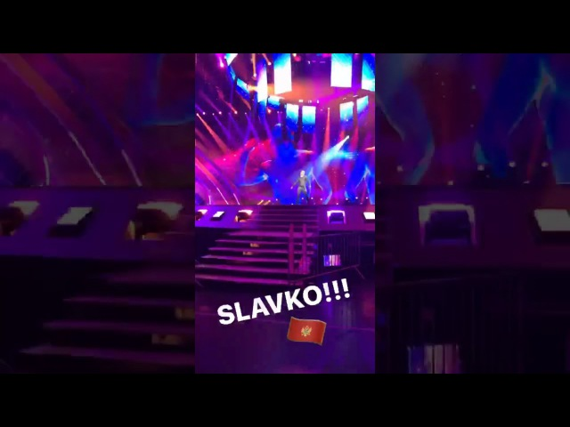 Eurovision 2017: first rehearsal of Montenegro - Slavko Kalezic • Space