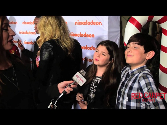 Addison Rieke Diego Velazquez at Nickelodeon's HoHoHoliday Special Screening Event NickelodeonTV