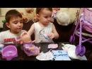 Куклы Играем в Дочки Матери Как Мама и Папа Пупсик Кушает Какает на горшок Игруш ...