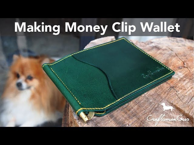 Making Leather Wallet Money Clip Wallet LeatherAddict EP 10