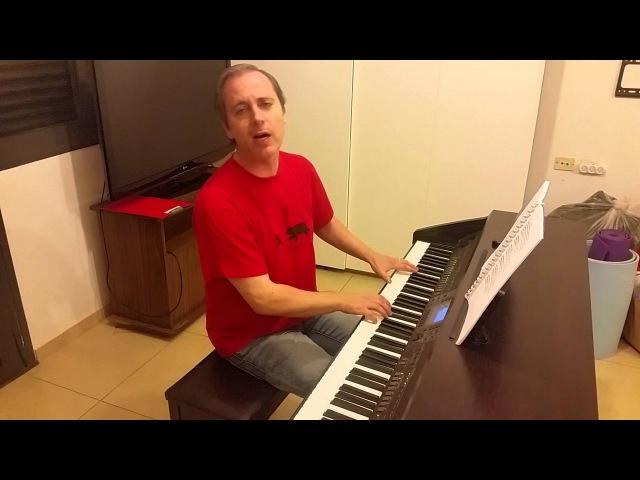 Танго Миронов Полищук 12 стульев вокал и пианино кавер piano cover