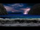 Дождь гроза шум океана для сна и расслабления Rain thunder ocean noise for sleep
