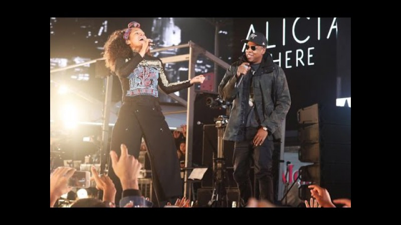 Alicia Keys Jay Z Empire State of Mind LIVE HERE in Times Square 2016