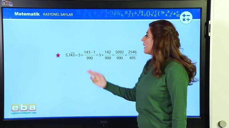 16-Rasyonel Sayıların Ondalık Gösterimi - MATEMATİK DERSLERİ - TEOG - YGS - LYS