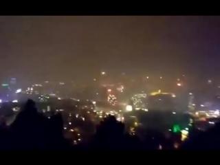 Салют на Новый год в Тбилиси 2017