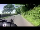 Motorcycle Helmet Cam_ near miss at junction _ Monday Motorbike Mayhem