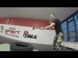 Тренировка Штефана Пютца перед боем с Рашидом Юсуповым