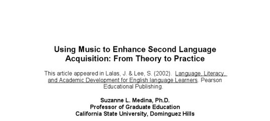use music to enhance children essay Music therapy is the use of music by health care professionals to promote healing and enhance quality of life for their patients music therapy may be used to encourage emotional expression, promote social interaction, relieve symptoms, and for other purposes.