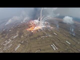 Видео взрыва боеприпасов на складе Балаклея под Харьковом