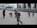 Игра в снежки на  9 мая 2017, на подъеме.