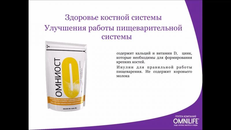 Продукты ОМНИЛАЙФ. Элина Пиковер