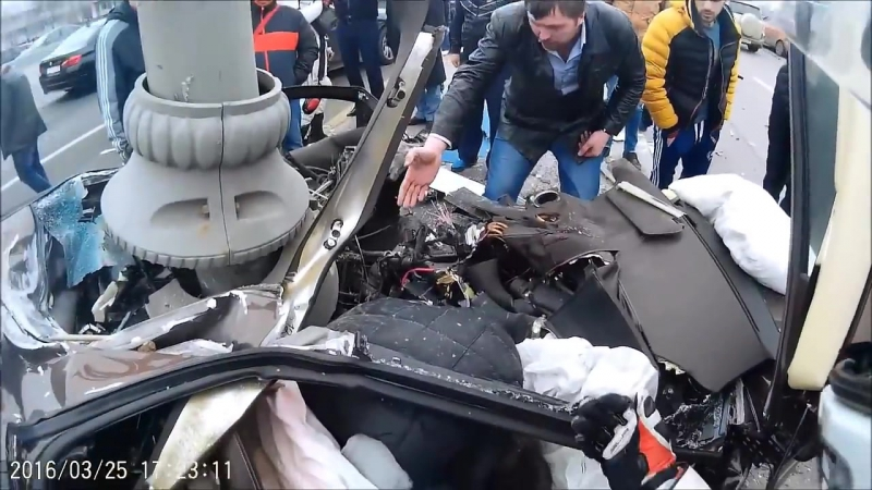 Страшная авария Lamborghini Яндиева на Варшавском шоссе 25.03.16