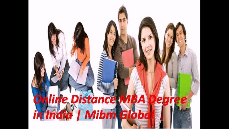 Online Distance MBA Degree in India Mibm Global NOIDA DELHI