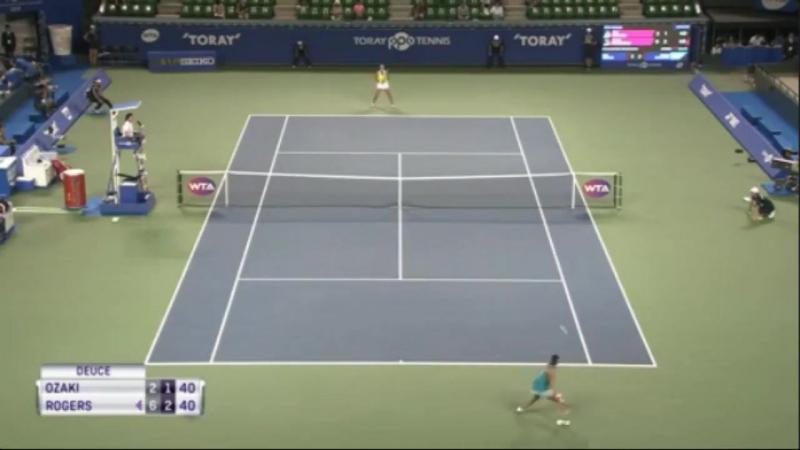 WTA Токио 1 й раунд Риса Озаки Шелби Роджерс 1 2 Полный матч смотреть онлайн без регистрации