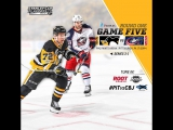 NHL 17 PS4. 2017 STANLEY CUP PLAYOFFS 100th FIRST ROUND GAME 5 EAST CBJ VS PIT. 04.20.2017. (NBCSN) !