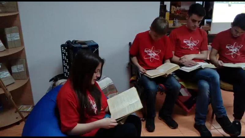 Библионочь в Волгодонске. Читания Трошки почитаем. Отрывок из Поднятой целины