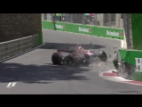Azerbaijan 2017 Perez crashes in FP1