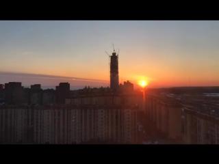 Закат над Лахта Центром