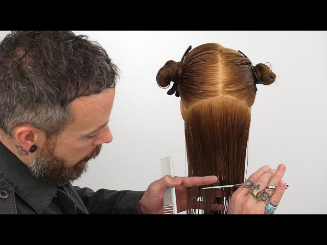 How to cut hair straight | Creating a precision bottom edge