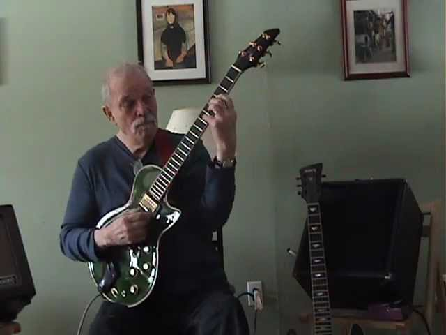 John Abercrombie playing his newest McCurdy guitar