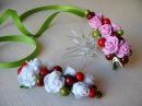 Заколка с цветами из латекса (фоамирана). Как сделать красивую заколку из готовых цветов