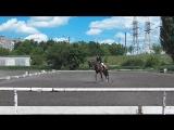 Выездка 28.05.17. Юношеская езда. Настя и Глагол