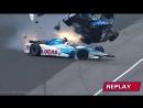Авария на гонке IndyCar