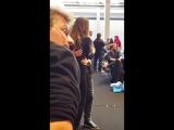 Alycia Debnam-Carey with her fans.Comic Con. Copenhagen.2016