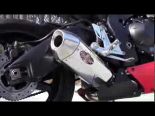 Voodoo Performance Exhaust Slip On: 2008 - 2009 CBR 1000 (Motorcycle Video)