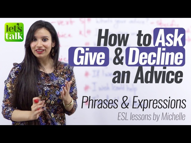 How to Ask Give Decline an Advice English Speaking Practice Lesson