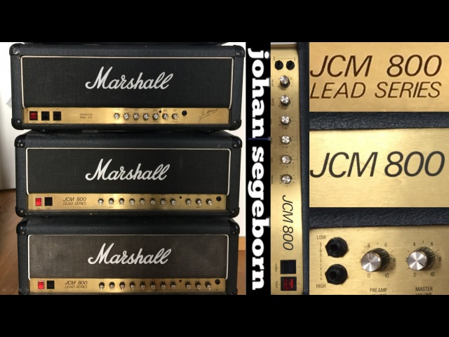 4 Versions of Marshall JCM800 - Shootout