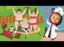 Five Little Mashas and the Bear Sumo Baby Jumping on the Bed Nursery Rhymes Lyrics SumoTubeHD 14