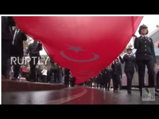 Турция: Тысячи память 78-й годовщины со дня смерти Ататюрк в Стамбуле.