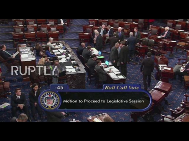 США: Сенат США подтверждает, Рекс Тиллерсон, как 69-й Государственного Секретаря.