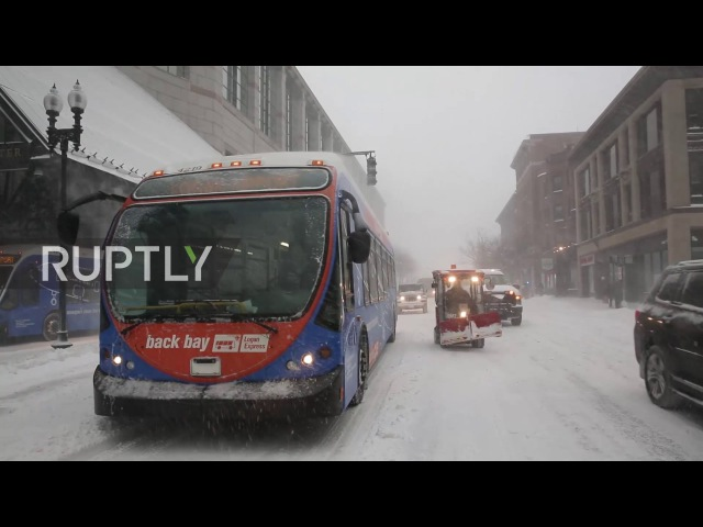 USA: Chaos in Boston as deadly snow storm batters the Northeast