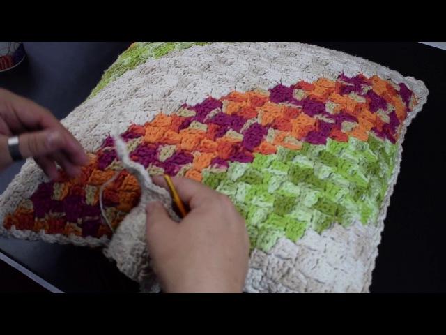 Crochetando com EuroRoma e Marcelo Nunes - Quadradinho de Canto à Canto (C2C)