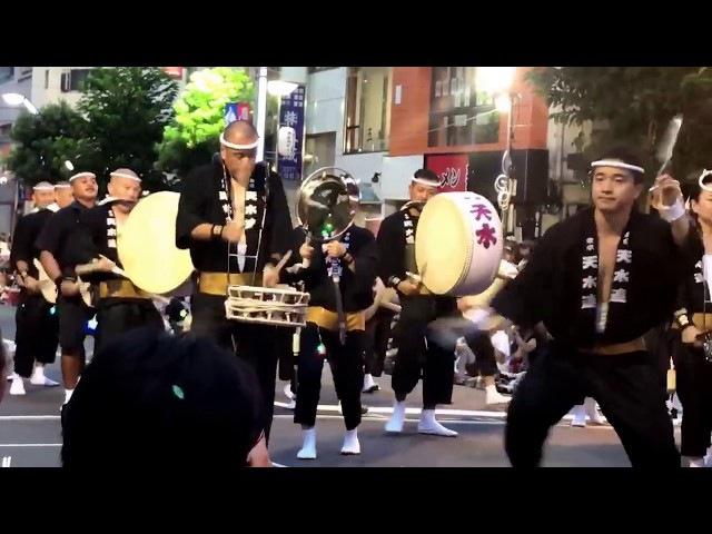 東京天水連 高円寺 阿波踊り 2017 8/26 Japan Awa odori Festival