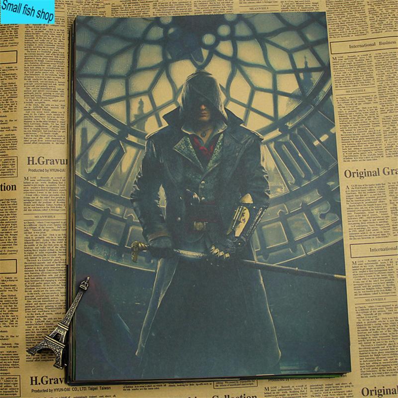 Постеры в стиле ретро Assassins Creed