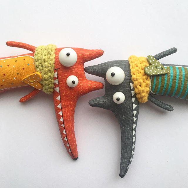 волк текстильная игрушка