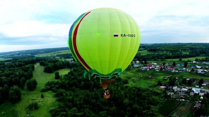 Аэросъёмка Новосибирск Я улетаю на большом воздушном шаре