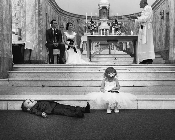 Эмоции детей на свадьбе
