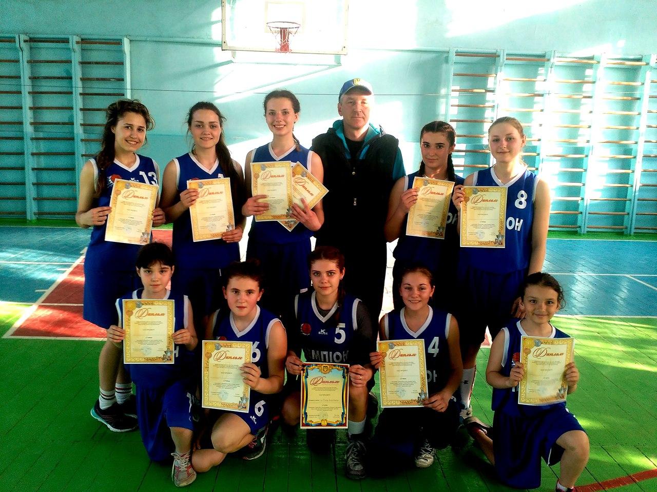Голопристанські баскетболістки здобули титул найкращої команди Херсонщини серед школярів