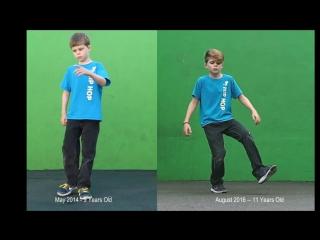 Сравнение_ танец после двух лет практики (700 часов тренировок)