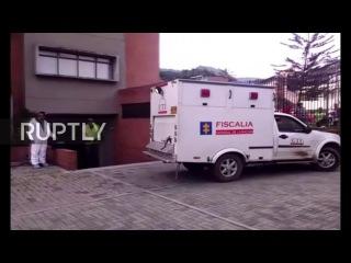 Колумбия: Судебно команда прибыл на месте Шапекоэнсе авиакатастрофе.