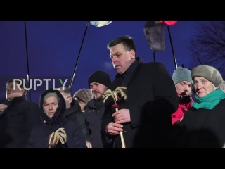 Украина: Люди почтил жертв Голодомора голода.