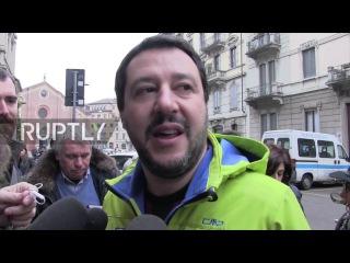 Италия: «Завтра будет началом новой эры» - Северная Лига Сальвини проливает референдумом.