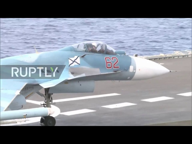 Syria Russian fighter jets conduct missions from the Kuznetsov aircraft carrier