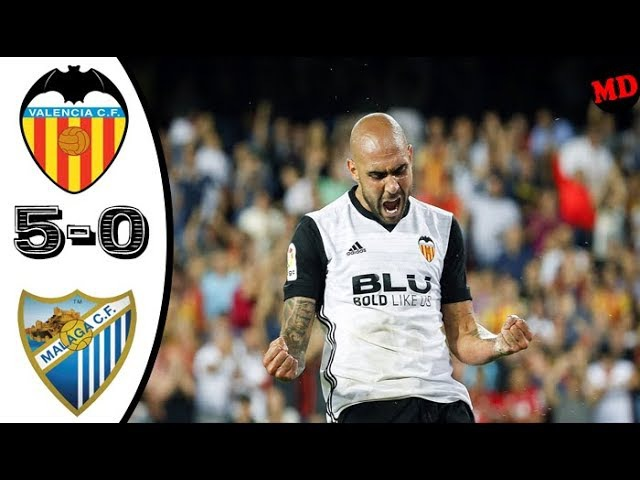 Valencia 5-0 Malaga - All Goals Highlights / La liga / 19-09-2017 /