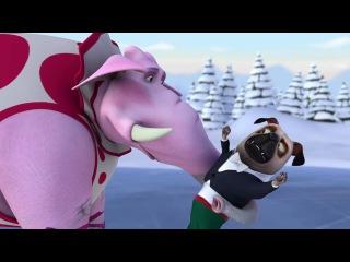 Белка и Стрелка - Озорная семейка - 🏅 Страсти на льду - Фигурное катание мопса и с...
