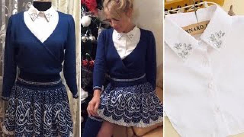 Вязание на машинке (knitting machine) Костюм юбкакофта
